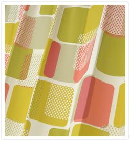 北欧デザインカーテン リズムイエロー