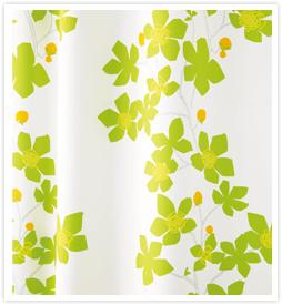 北欧デザインカーテン ロクロギグリーン