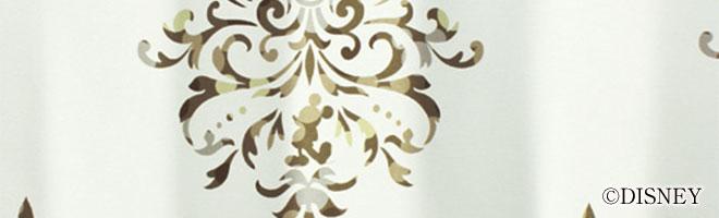 ディズニー・ミッキーマウス 1級・2級遮光カーテン クレスト 生地アップ2